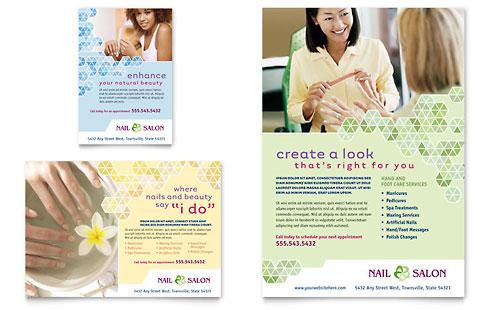 Nail Salon Flyer & Ad Template
