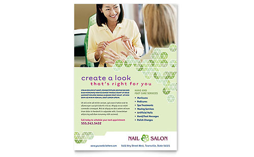 Nail Salon Flyer Template