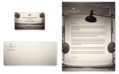 Photography Studio Business Card & Letterhead Template