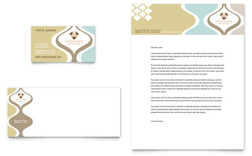 Wedding Store & Supplies Business Card & Letterhead Template
