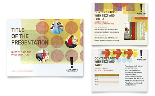 Marketing Consultant PowerPoint Template