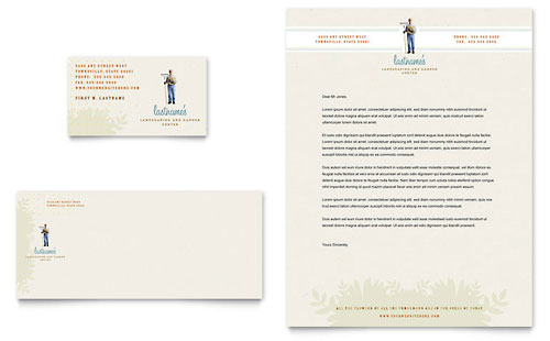 Landscape & Garden Store Business Card & Letterhead Template