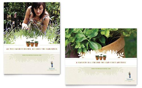 Landscape & Garden Store Poster Template