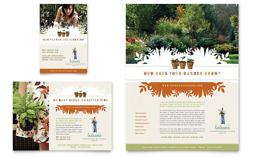 Landscape & Garden Store Flyer & Ad Template