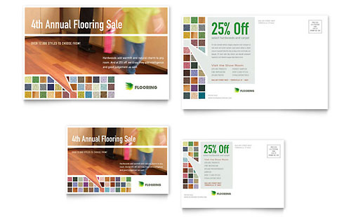 Carpet & Hardwood Flooring Postcard Template