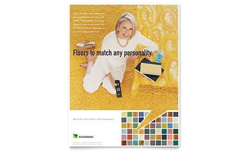 Carpet & Hardwood Flooring Flyer Template