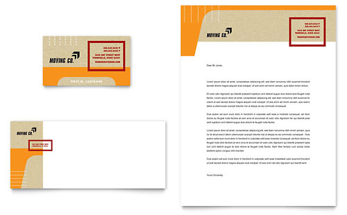 Movers & Moving Company Business Card & Letterhead Template