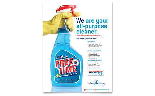 House Cleaning & Housekeeping Flyer Template