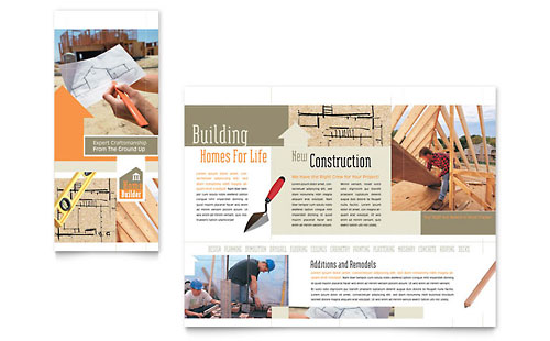 construction brochure template - construction templates brochures flyers postcards
