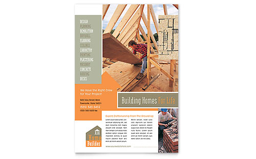 Construction Flyers Templates Amp Designs