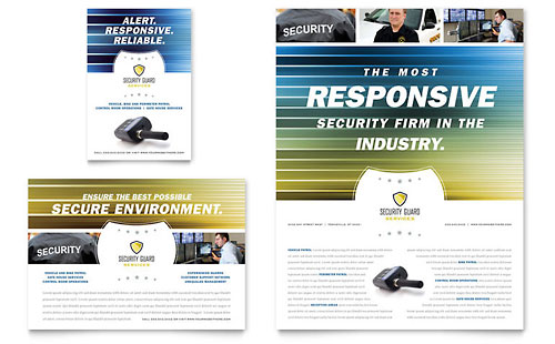 Security Guard Flyer & Ad Template
