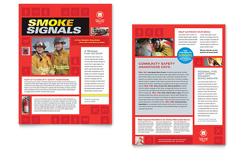 Fire Safety Newsletter Template