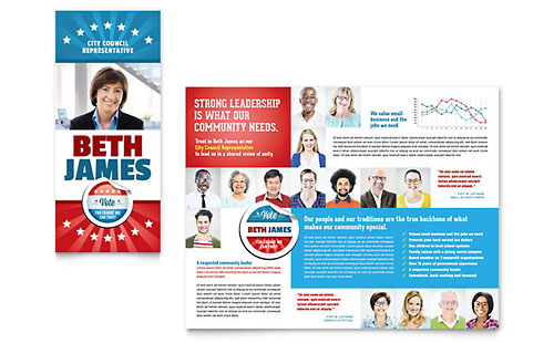 Political Candidate - Brochure Template
