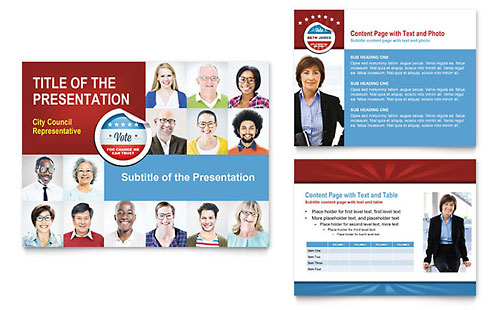 Political Candidate PowerPoint Presentation Template