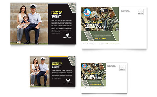 Military Postcard Template