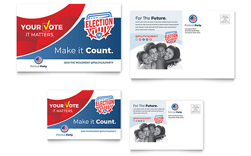 Election - Postcard Template