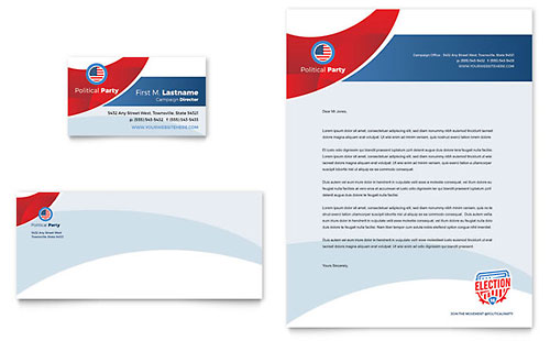 Election - Business Card & Letterhead Template