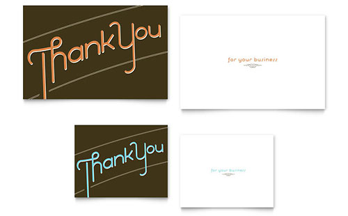 thank you note card template. Black Bedroom Furniture Sets. Home Design Ideas