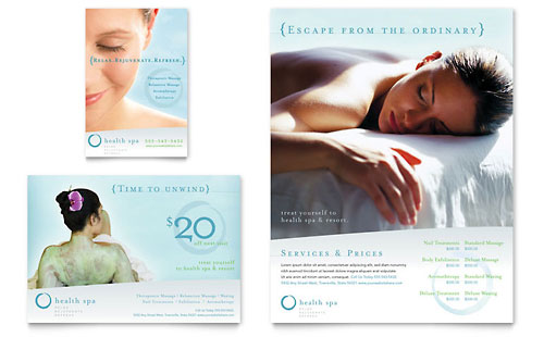Day Spa & Resort Flyer & Ad Template
