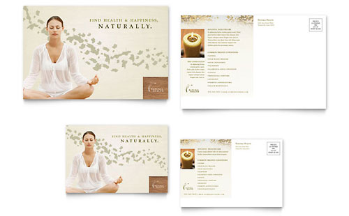 Naturopathic Medicine Postcard Template