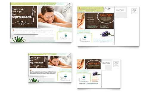 Day Spa Postcard Template