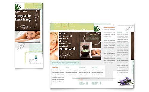 Day Spa - Tri Fold Brochure Template