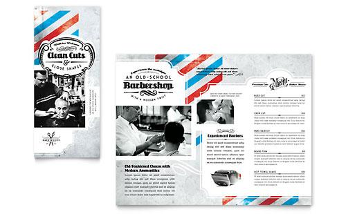 Barbershop Tri Fold Brochure Template