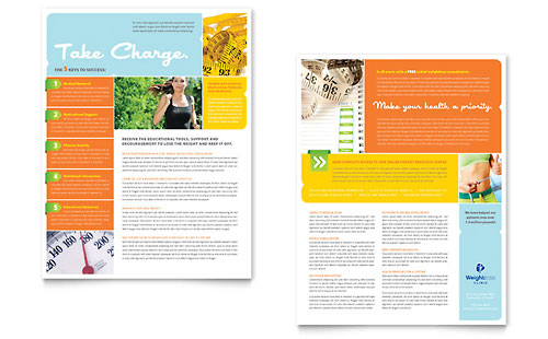 Weight Loss Clinic Datasheet Template