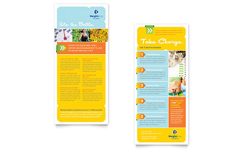 Weight Loss Clinic Rack Card Template