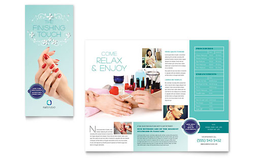 Nail Technician - Brochure Template
