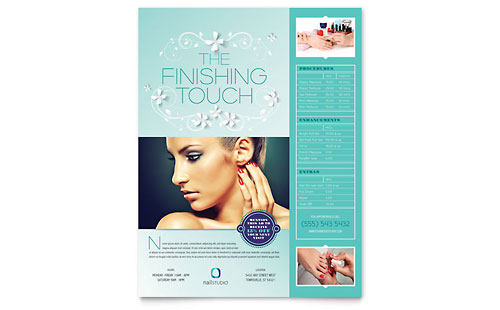 Nail Technician Flyer Template