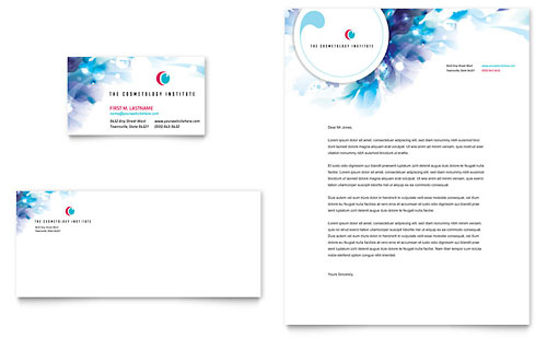 Cosmetology Business Card & Letterhead Template