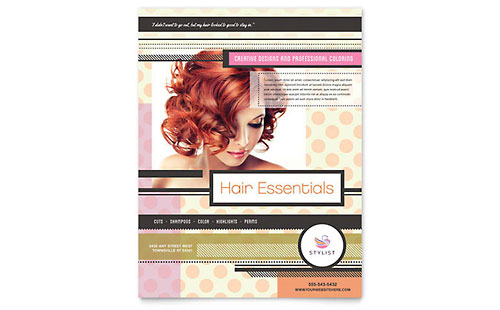 Hairstylist Flyer Template