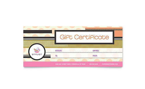 Beauty & Nail Salon | Gift Certificate Templates | Health ...