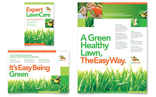 Lawn Maintenance Flyer & Ad Template