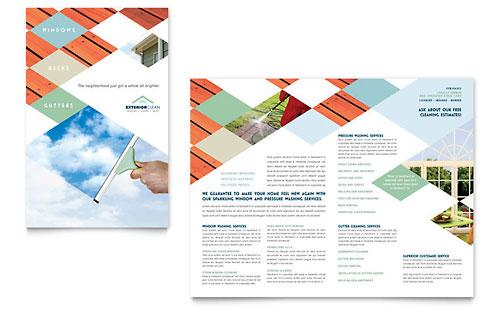 Window Cleaning & Pressure Washing - Brochure Template