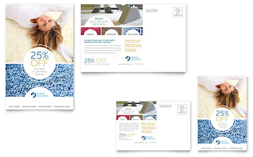 Carpet Cleaners Postcard Template