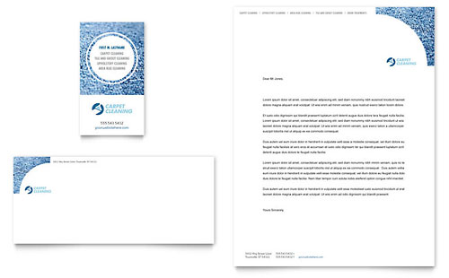 Carpet Cleaners Business Card & Letterhead Template