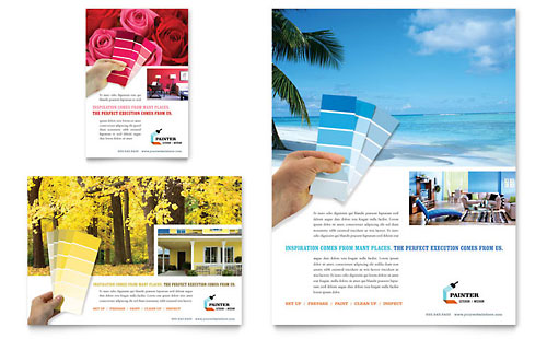 House Painting Contractor - Flyer & Ad Template