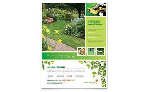 Lawn Mowing Service Flyer Template