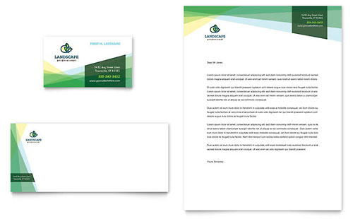 Landscaper Business Card & Letterhead Template