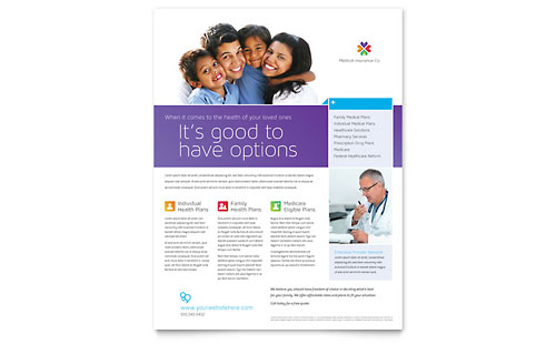 Medical Insurance Flyer Template