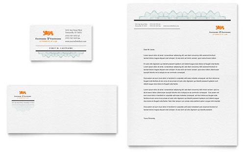 Attorney Business Card & Letterhead Template