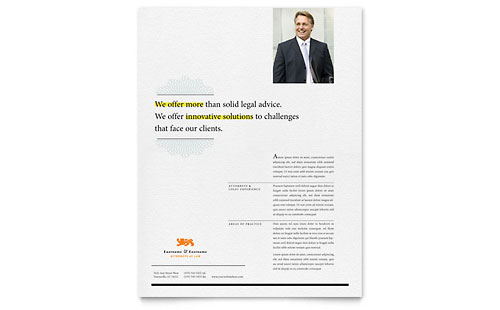 Attorney Flyer Template