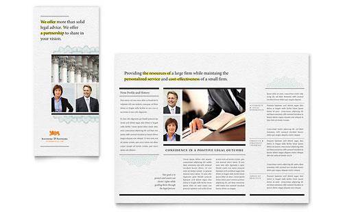 Attorney Tri Fold Brochure Template