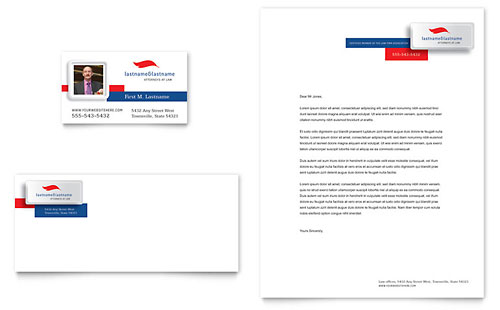 Justice Legal Services Business Card & Letterhead Template
