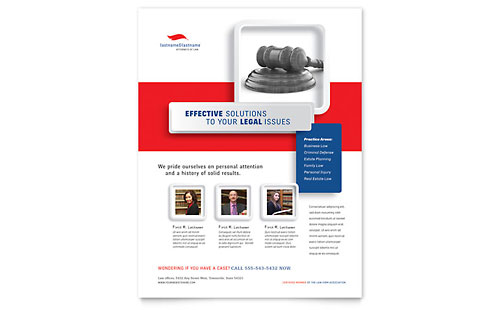 Justice Legal Services - Flyer Template