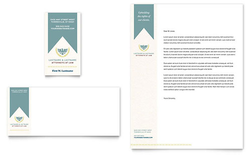 Law Firm Business Card & Letterhead Template