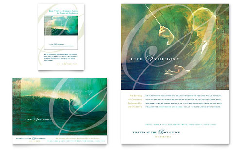 Symphony Orchestra Concert Event Flyer & Ad Template