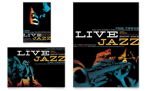 Jazz Music Event Flyer & Ad Template